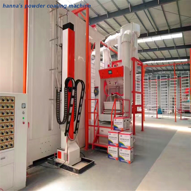 Fast automatic color change spraying booth (1)